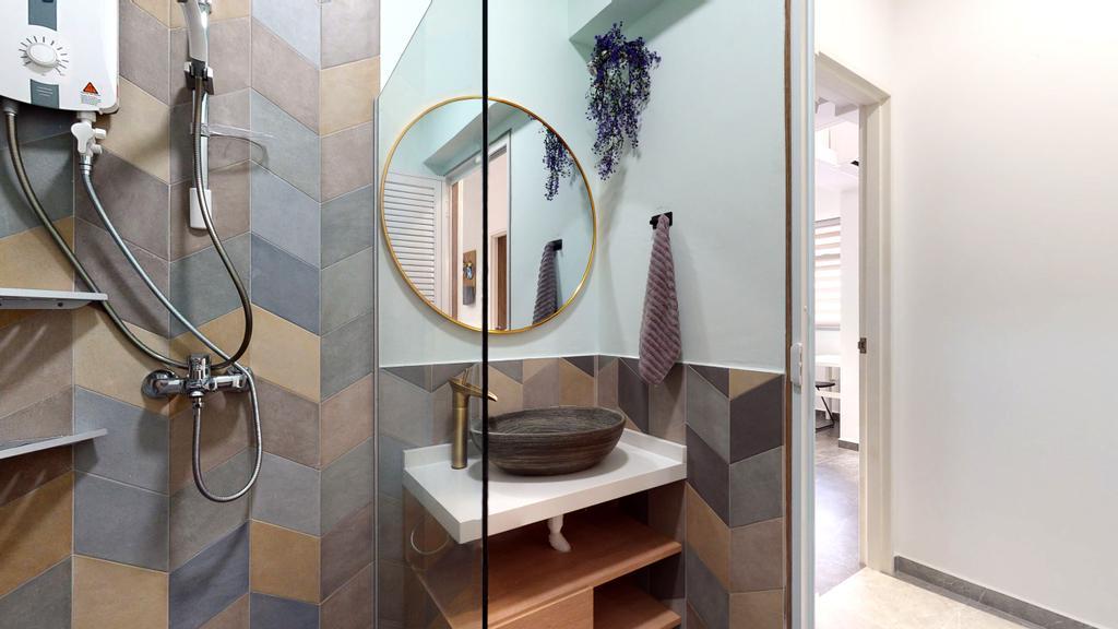 Contemporary, HDB, Bathroom, Buangkok Link, Interior Designer, Stylemyspace