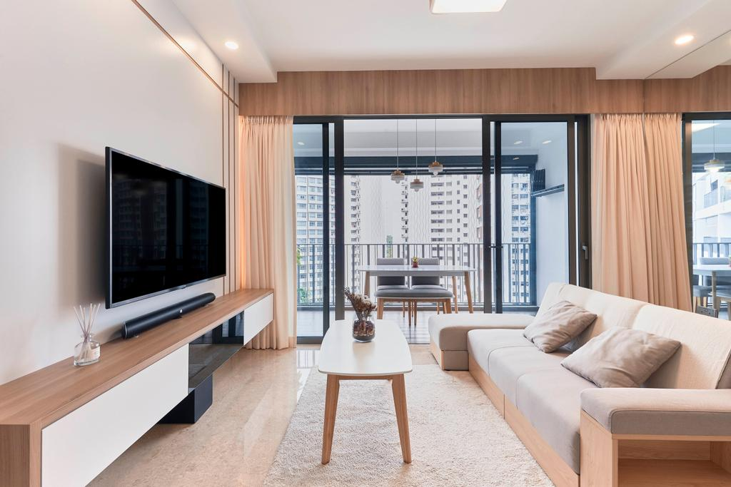 Contemporary, Condo, Living Room, Riversails, Interior Designer, Charlotte's Carpentry, Modern
