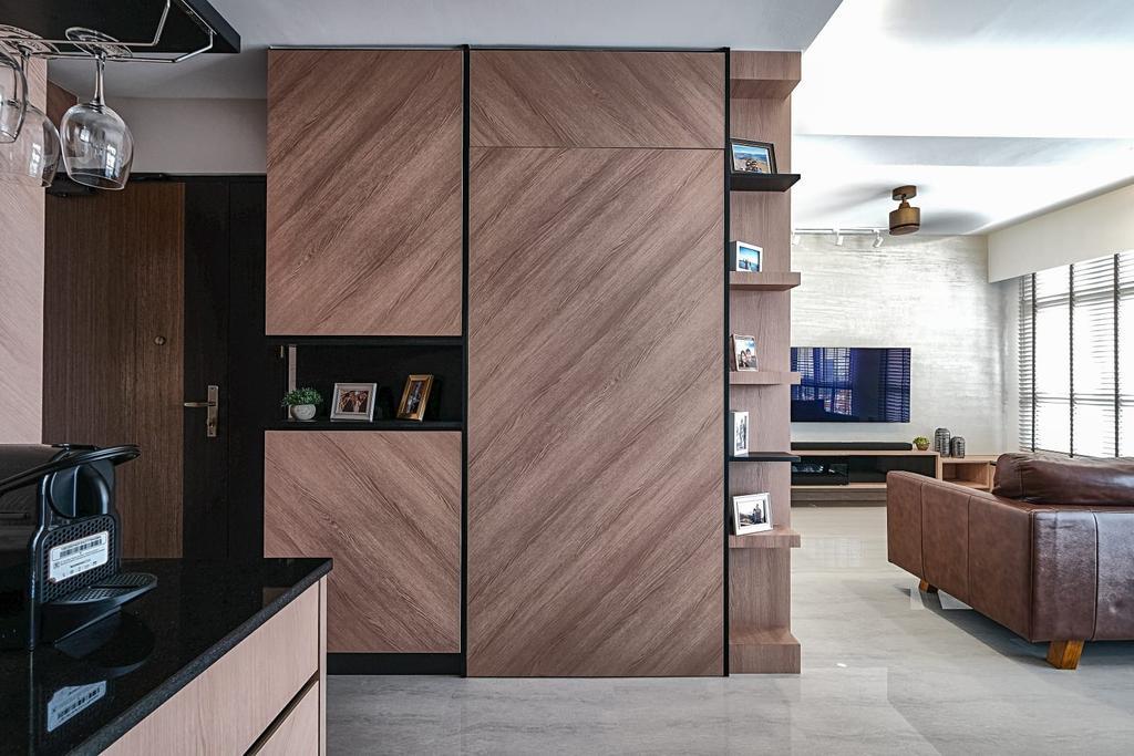 Contemporary, HDB, Living Room, Strathmore Avenue, Interior Designer, United Team Lifestyle