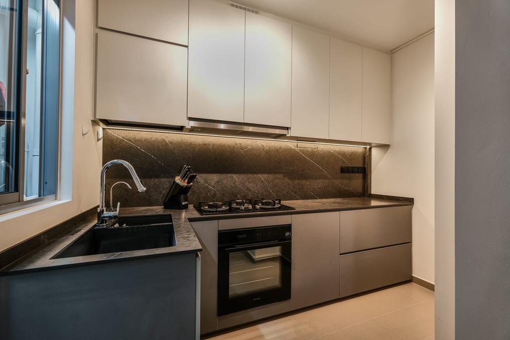 Contemporary, HDB, Kitchen, Strathmore Avenue, Interior Designer, United Team Lifestyle