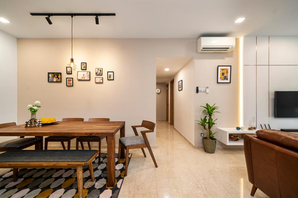 Modern, Condo, Living Room, Carissa Park Condo, Interior Designer, Livspace, Scandinavian