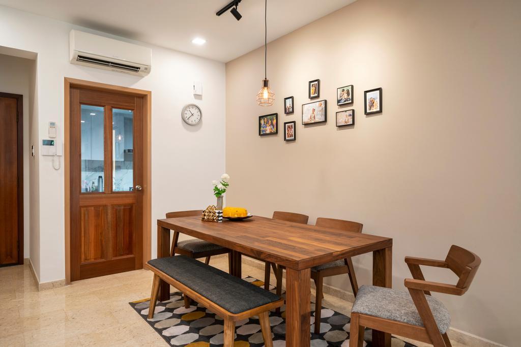 Modern, Condo, Dining Room, Carissa Park Condo, Interior Designer, Livspace, Scandinavian