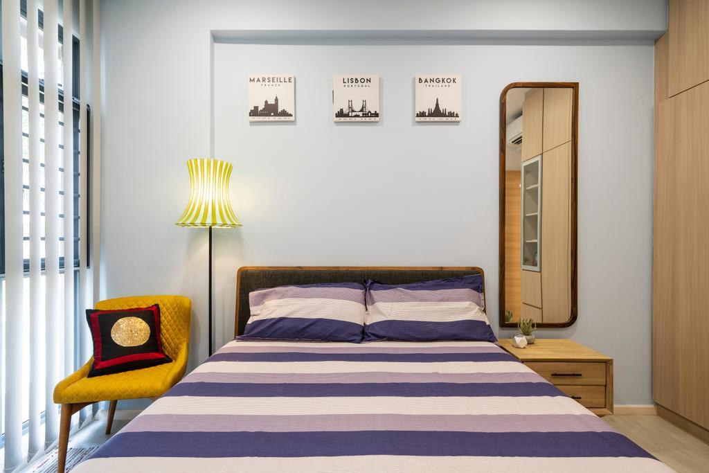 Modern, Condo, Bedroom, Carissa Park Condo, Interior Designer, Livspace, Scandinavian