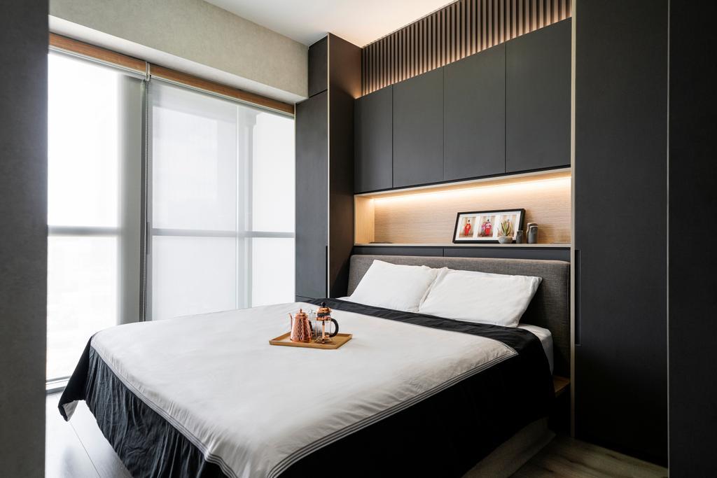 Contemporary, Condo, Bedroom, The Alps Residences, Interior Designer, Livspace