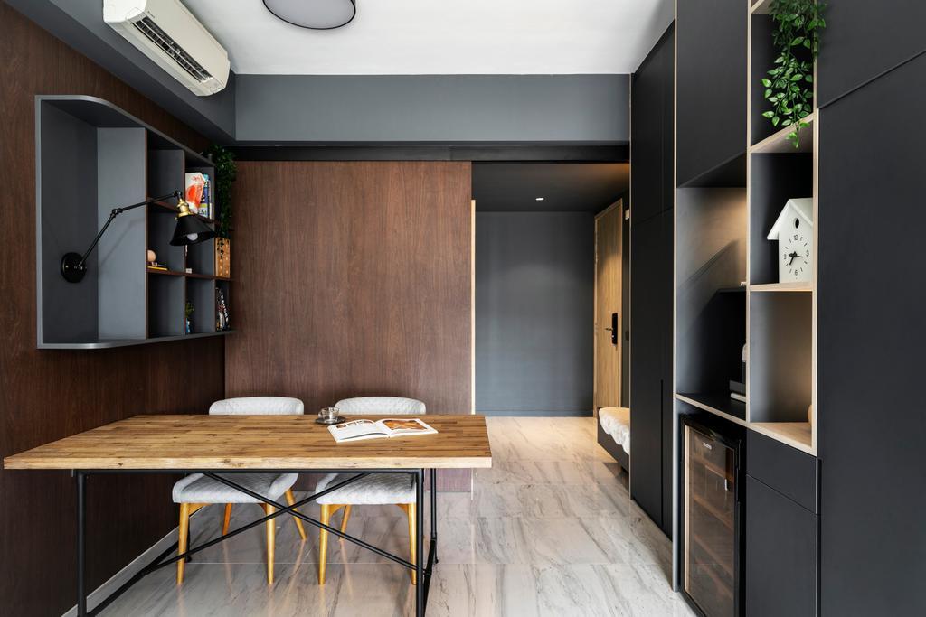 Contemporary, Condo, Dining Room, The Alps Residences, Interior Designer, Livspace