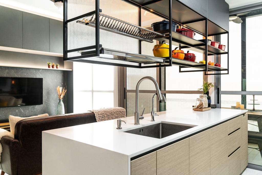 Contemporary, Condo, Kitchen, The Alps Residences, Interior Designer, Livspace