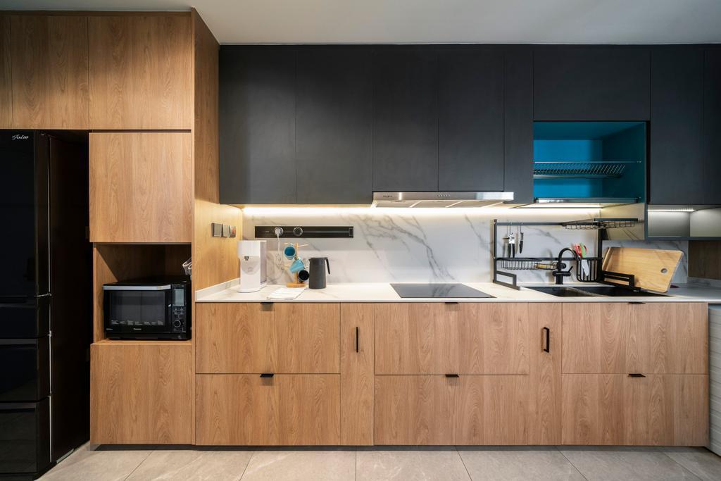 Scandinavian, HDB, Kitchen, Jalan Membina, Interior Designer, Livspace
