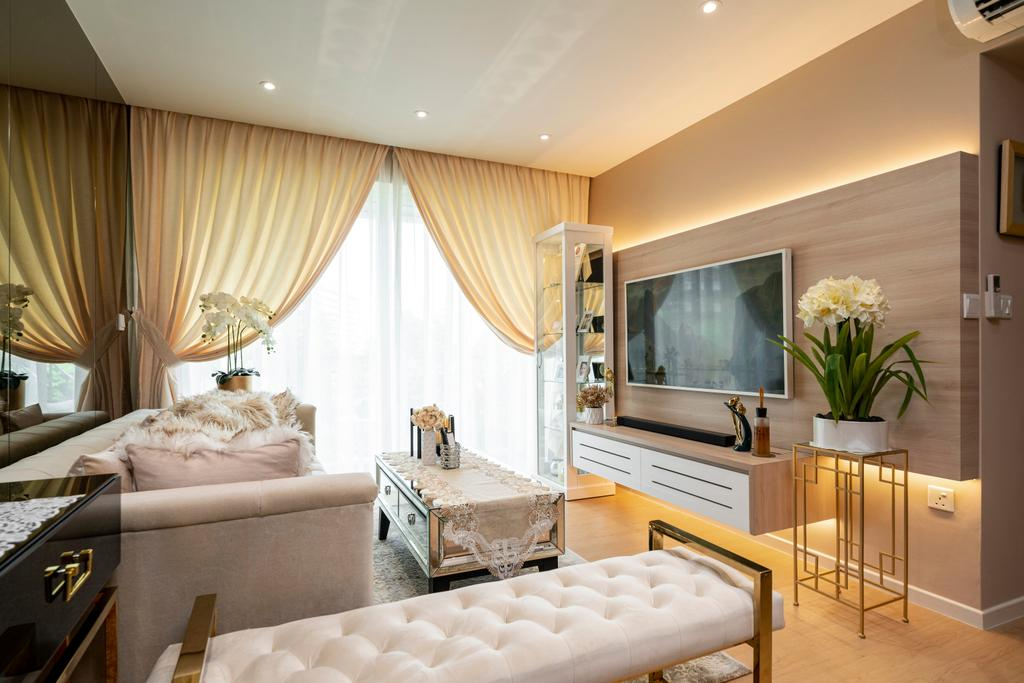 Modern, HDB, Living Room, Yishun Ring Road, Interior Designer, Livspace