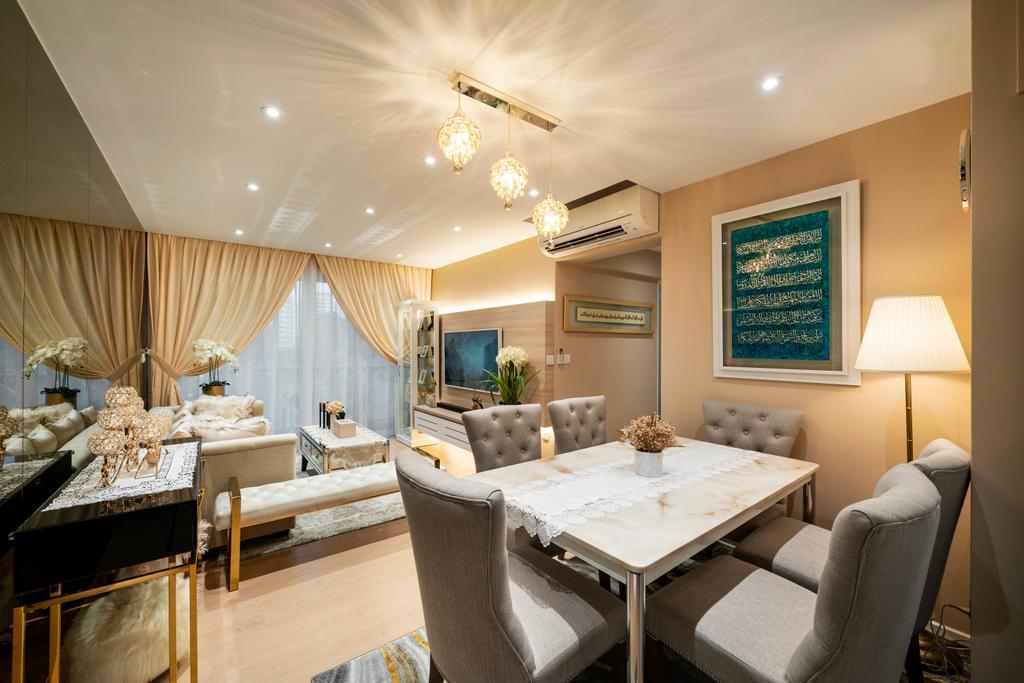 Modern, HDB, Dining Room, Yishun Ring Road, Interior Designer, Livspace