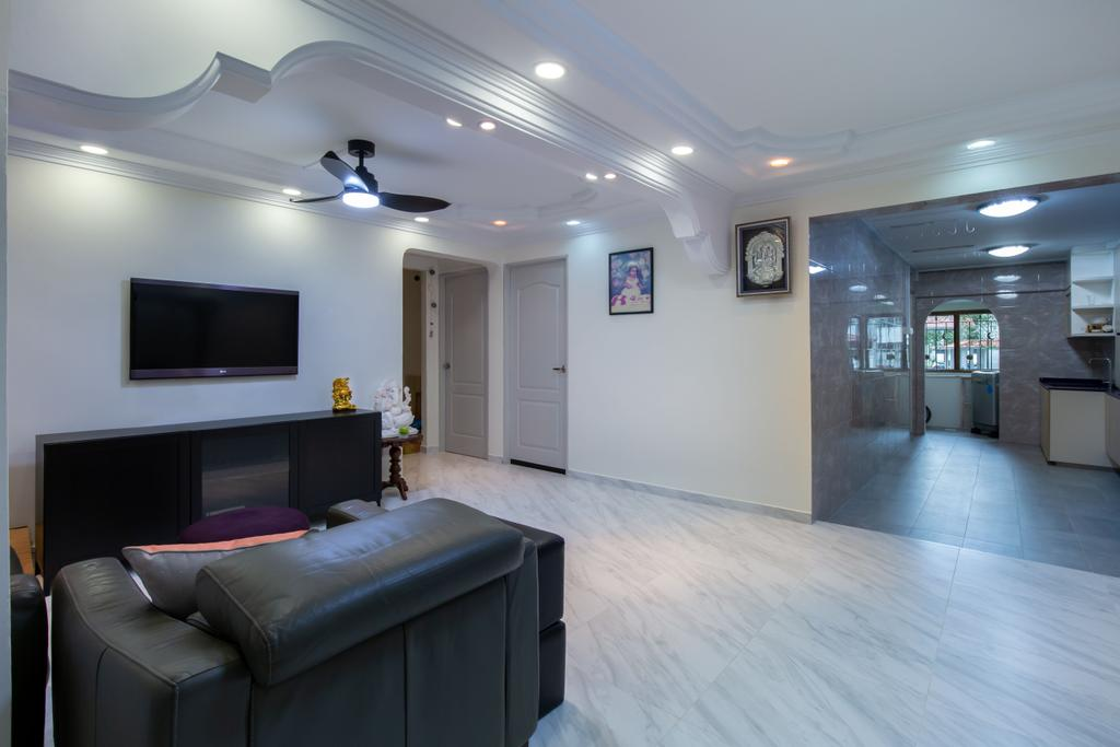 Modern, HDB, Living Room, Bukit Batok Central, Interior Designer, D & T Creation