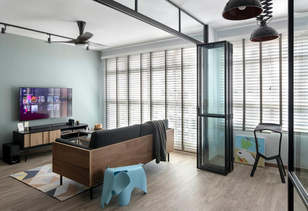 Contemporary, HDB, Living Room, Compassvale Link, Interior Designer, Versaform, Scandinavian
