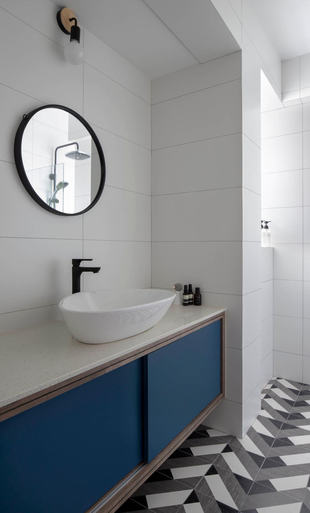 Contemporary, HDB, Bathroom, Compassvale Link, Interior Designer, Versaform, Scandinavian