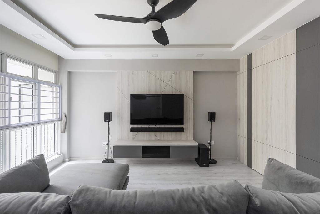 Contemporary, HDB, Living Room, Bukit Batok West Avenue 5, Interior Designer, Flo Design