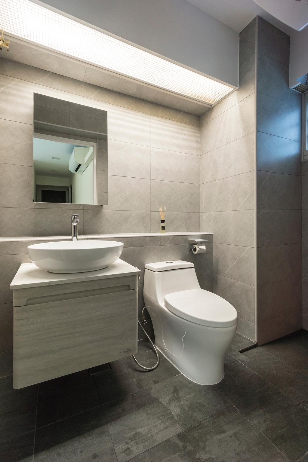 Contemporary, HDB, Bathroom, Bukit Batok West Avenue 5, Interior Designer, Flo Design