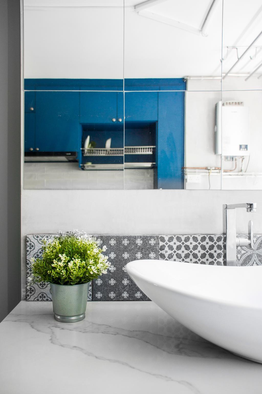 Retro, HDB, Bathroom, Holland Avenue, Interior Designer, Flo Design
