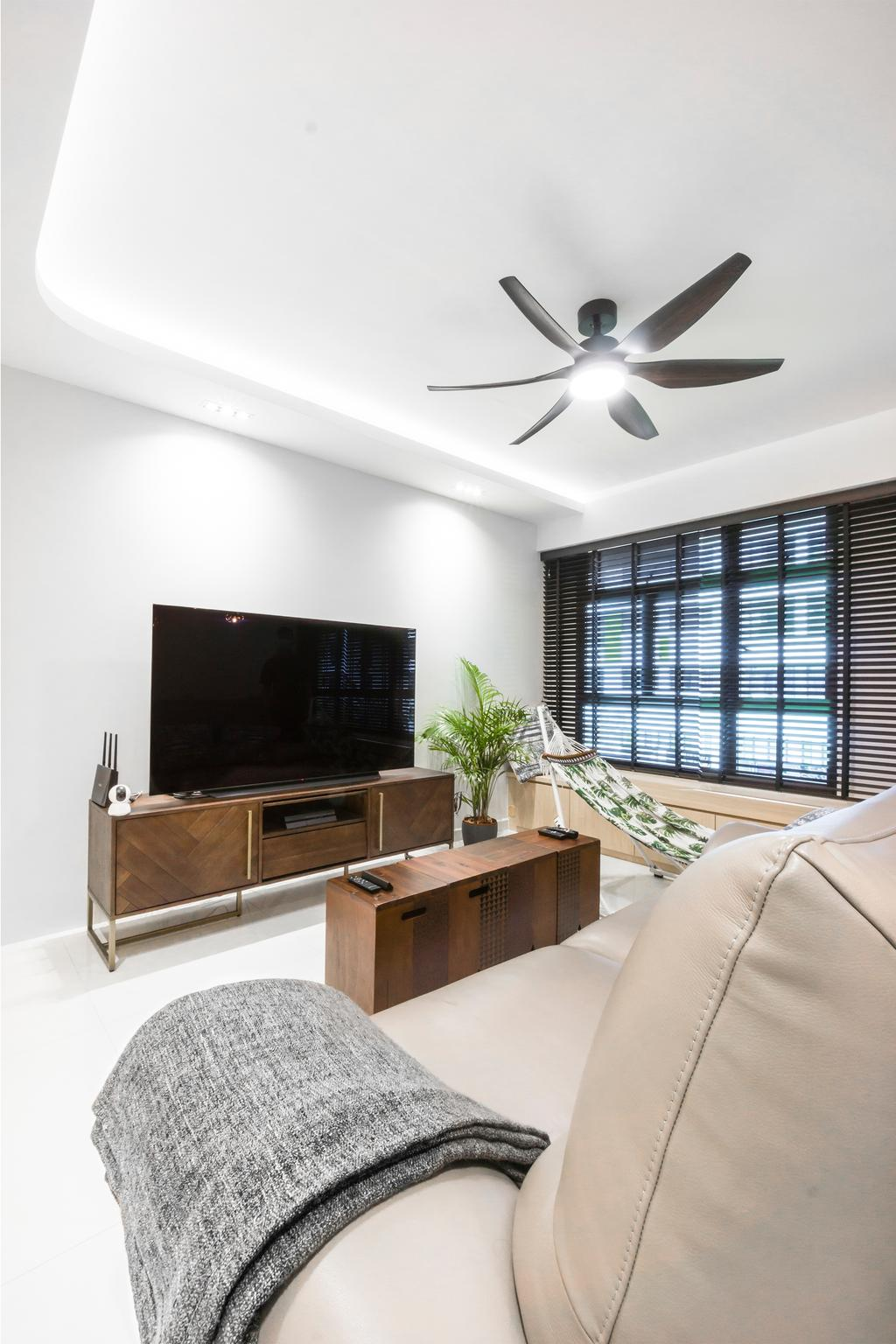 Contemporary, HDB, Living Room, Tampines Street 61, Interior Designer, Flo Design