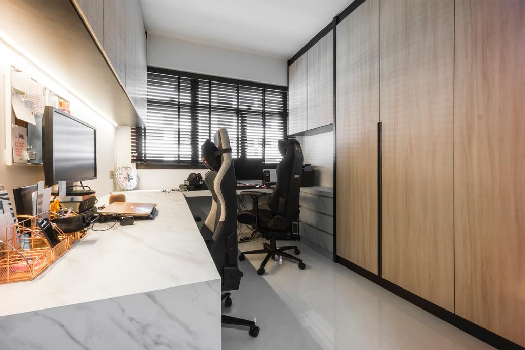 Contemporary, HDB, Study, Tampines Street 61, Interior Designer, Flo Design