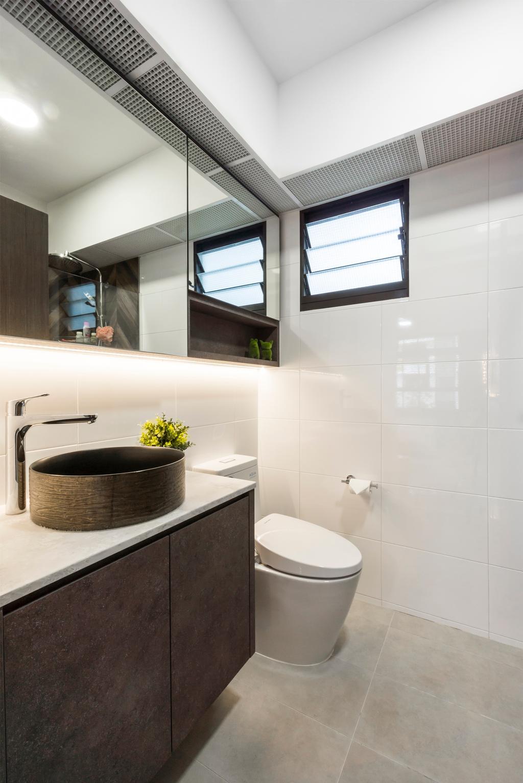 Contemporary, HDB, Bathroom, Tampines Street 61, Interior Designer, Flo Design