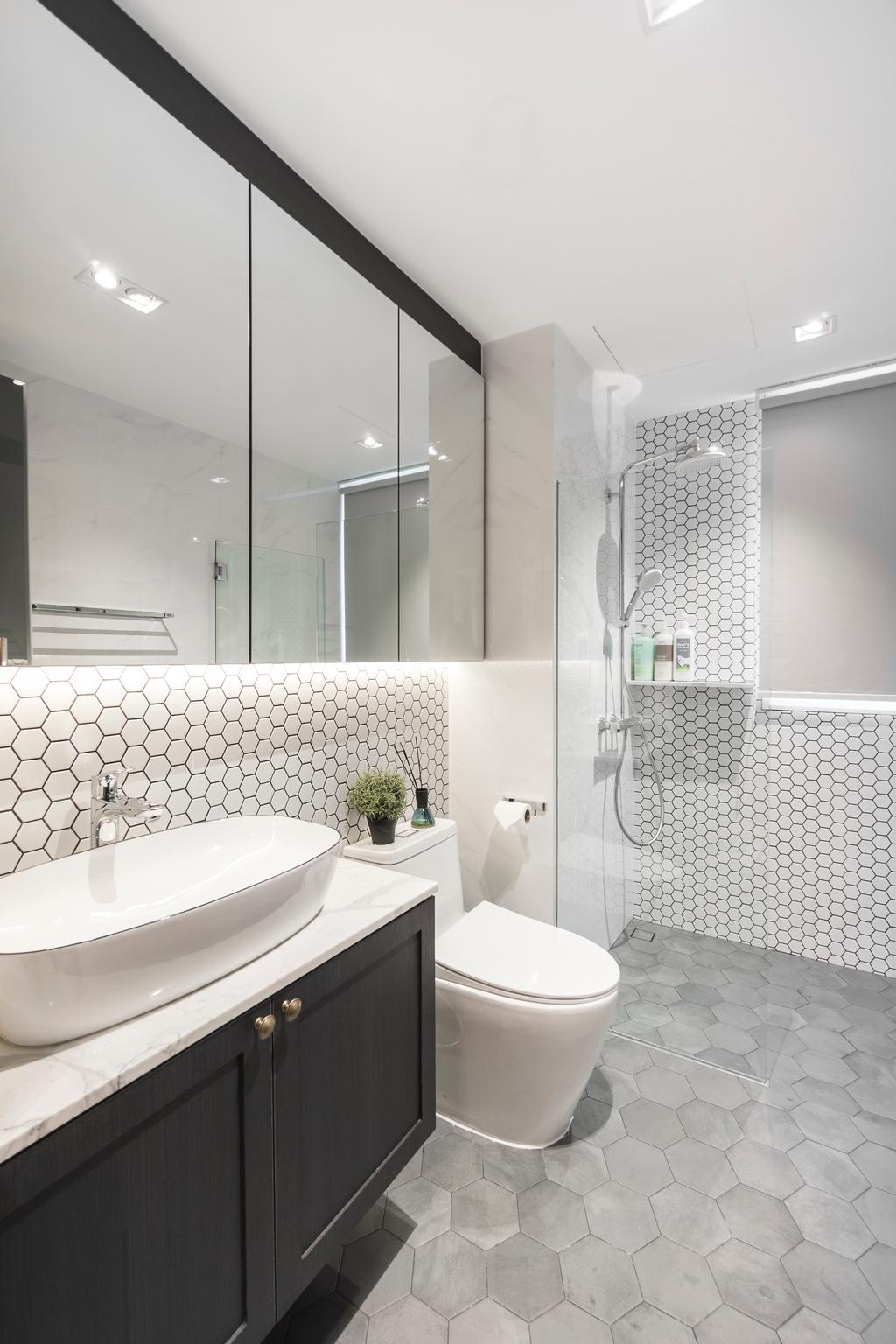 Contemporary, Condo, Bathroom, Waterview, Interior Designer, Flo Design