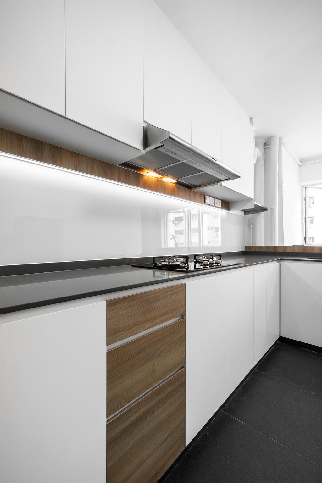 Contemporary, HDB, Kitchen, West Coast Road, Interior Designer, Flo Design