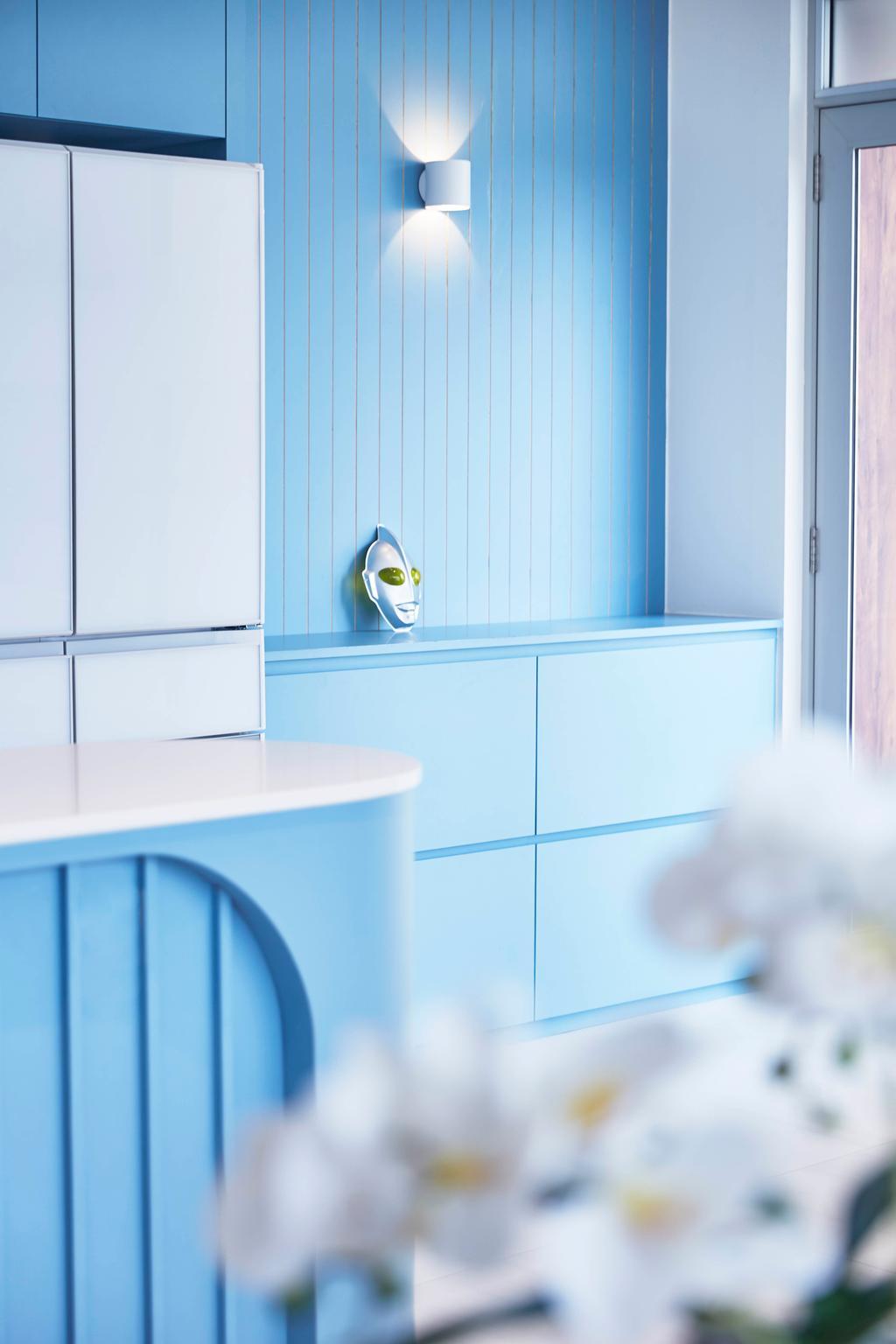 Contemporary, Condo, Kitchen, The Esta, Interior Designer, The Interior Lab, Blue