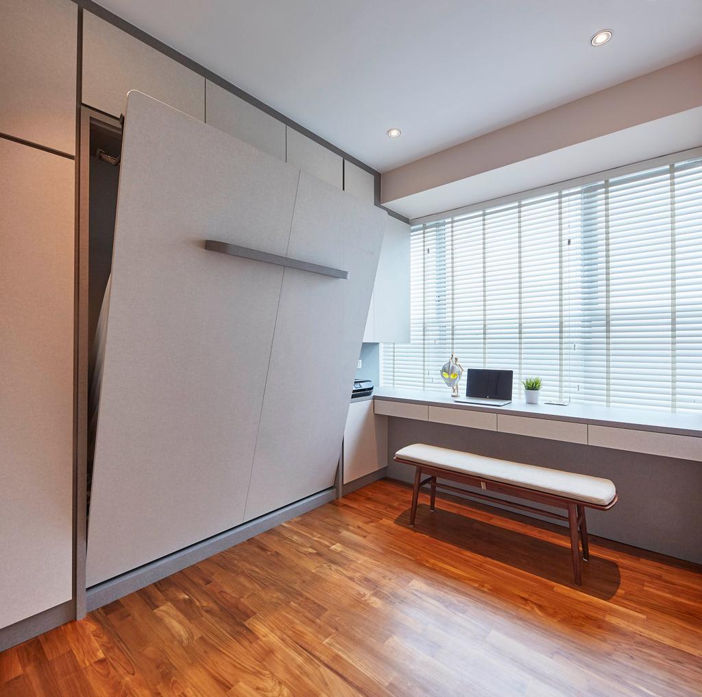 Contemporary, Condo, Study, The Esta, Interior Designer, The Interior Lab, Murphy Bed, Foldable Bed