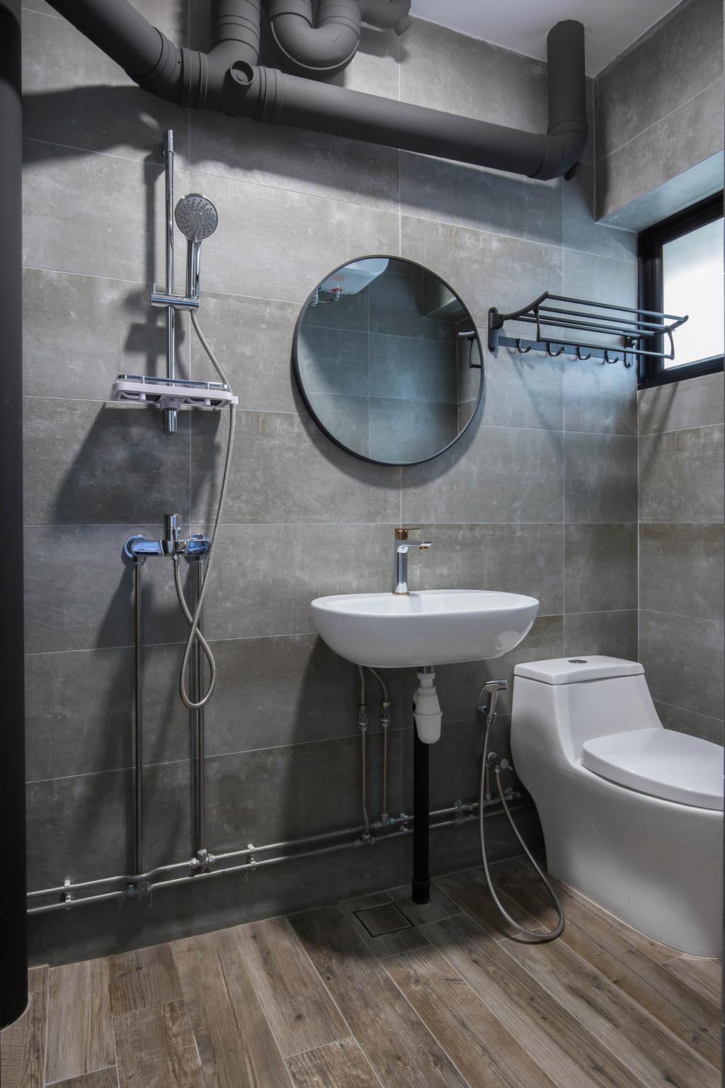 Contemporary, HDB, Bathroom, Toa Payoh Lorong 1, Interior Designer, Inizio Atelier, Scandinavian
