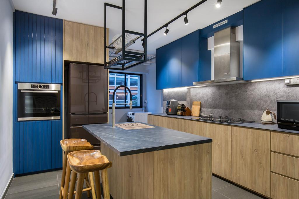 Contemporary, HDB, Kitchen, Toa Payoh Lorong 1, Interior Designer, Inizio Atelier, Scandinavian, Kitchen Island