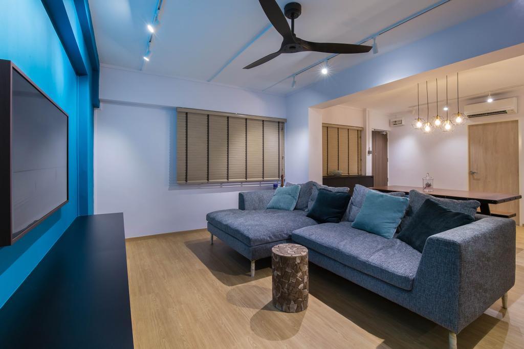 Contemporary, HDB, Living Room, Toa Payoh Lorong 1, Interior Designer, Inizio Atelier, Scandinavian