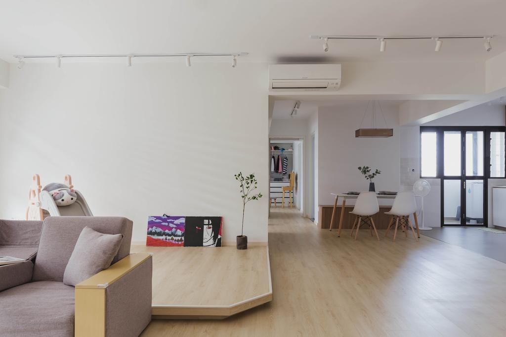 Scandinavian, HDB, Living Room, Tampines North Drive 1, Interior Designer, ELPIS Interior Design
