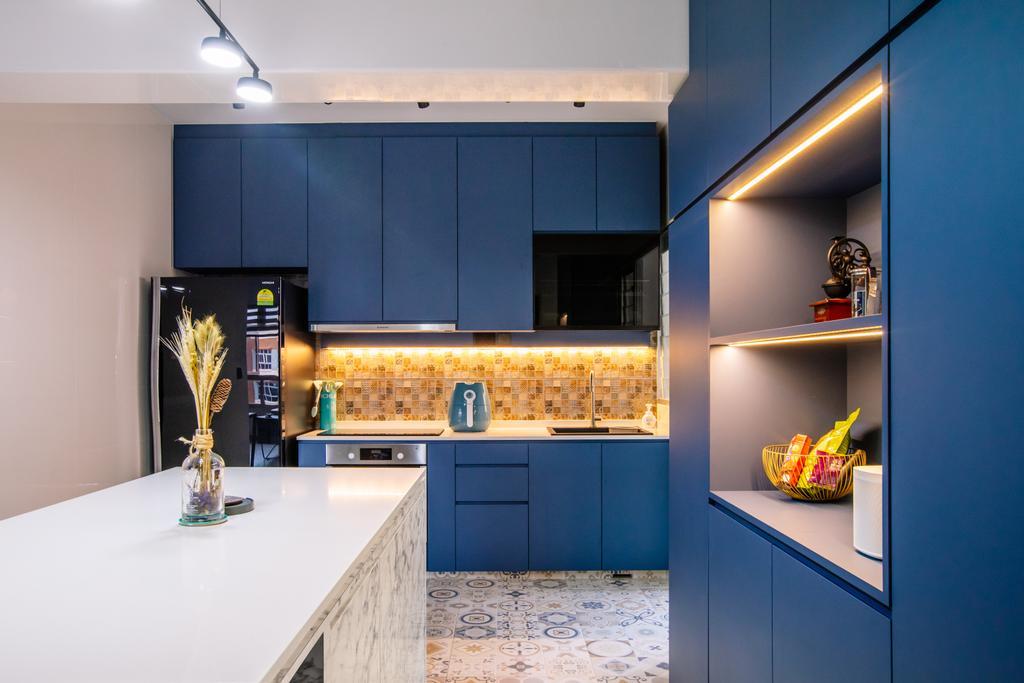 Contemporary, HDB, Kitchen, Buangkok Link, Interior Designer, Stylemyspace