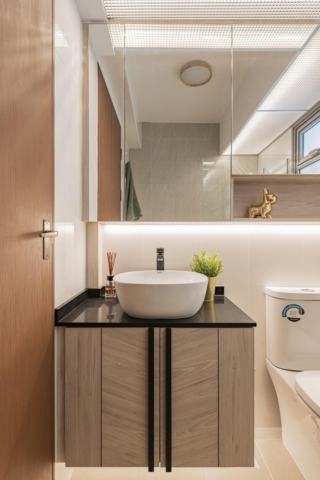 Contemporary, HDB, Bathroom, Tampines North, Interior Designer, Divine & Glitz