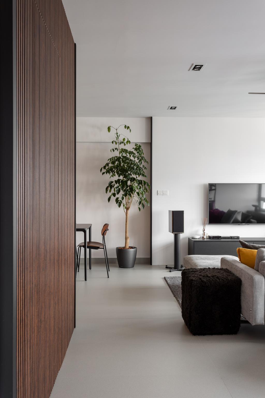 Contemporary, HDB, Living Room, Dover Crescent, Interior Designer, Habit