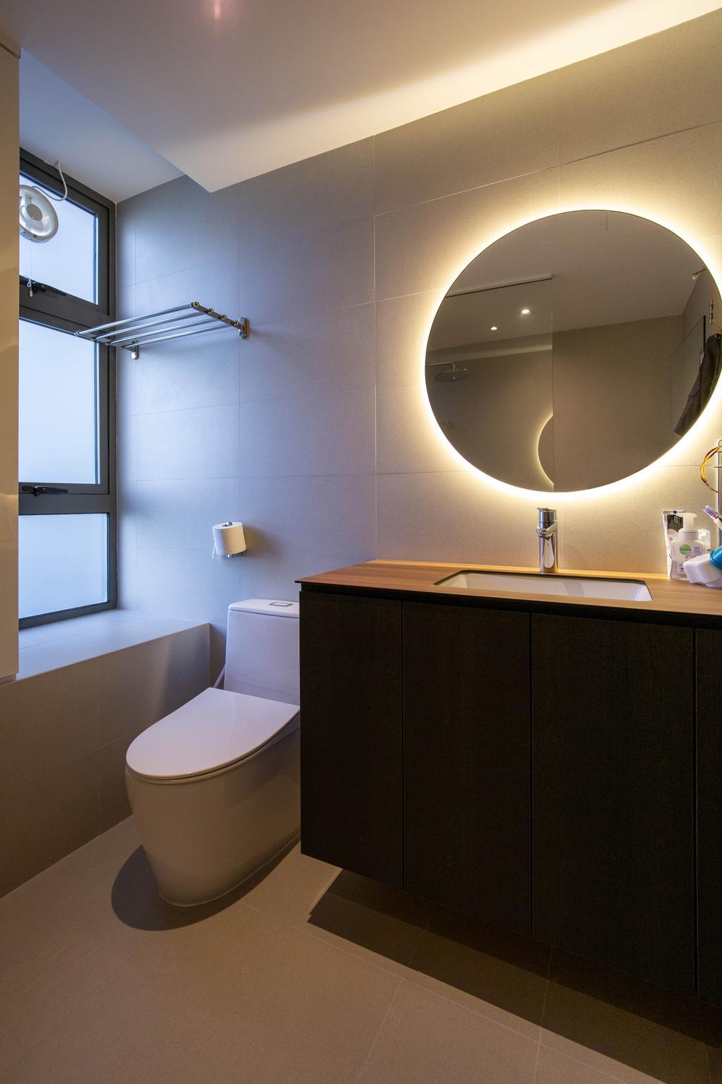 Modern, Condo, Bathroom, Residences Botanique, Interior Designer, New Chapter Design.com