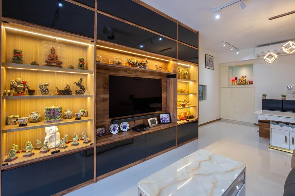 Modern, Condo, Living Room, Residences Botanique, Interior Designer, New Chapter Design.com
