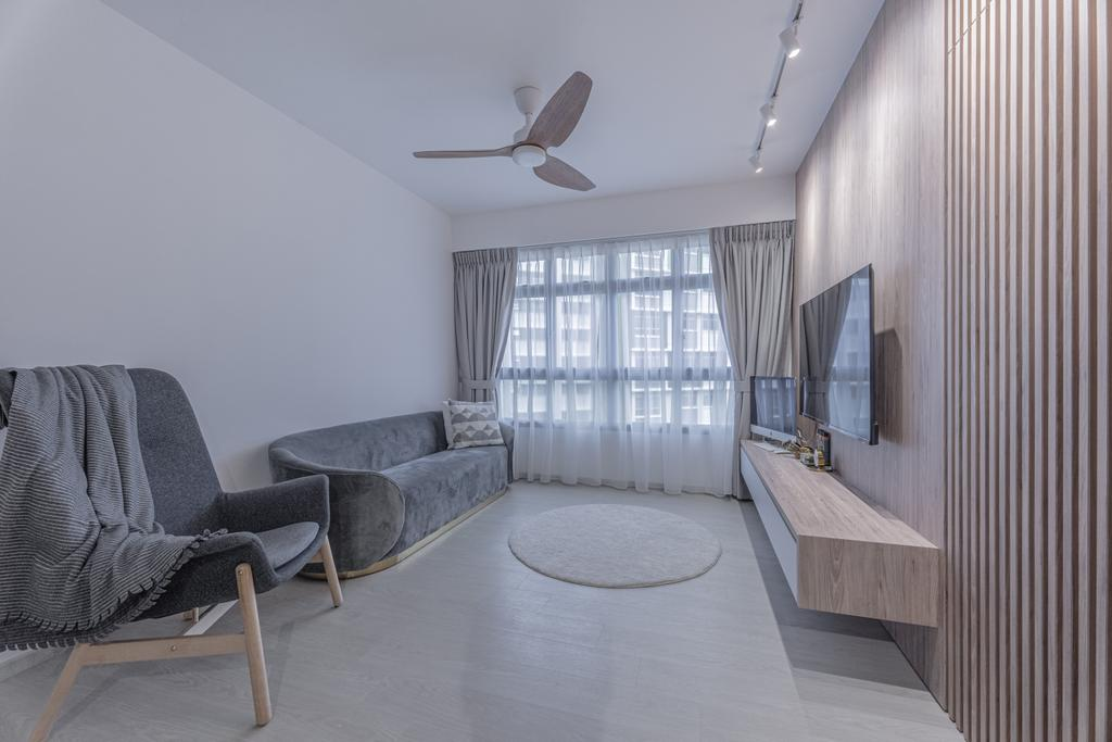 Contemporary, HDB, Living Room, Tampines North Drive 1, Interior Designer, Luova Project Services