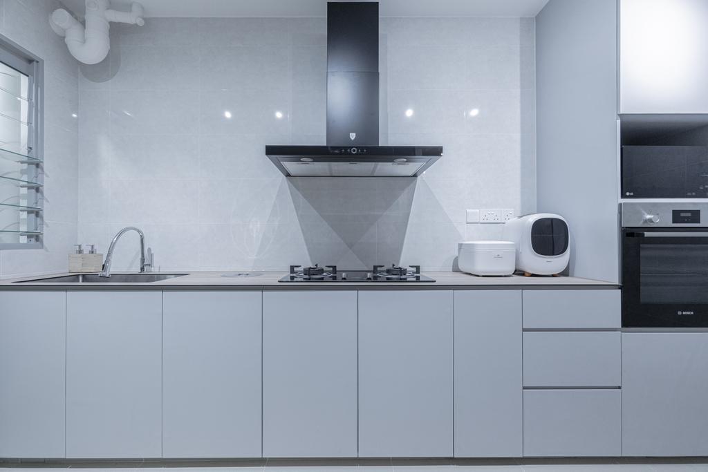 Contemporary, HDB, Kitchen, Tampines North Drive 1, Interior Designer, Luova Project Services