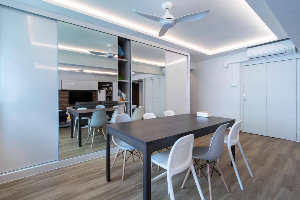 Contemporary, HDB, Dining Room, Hougang Ave 10, Interior Designer, New Chapter Design.com