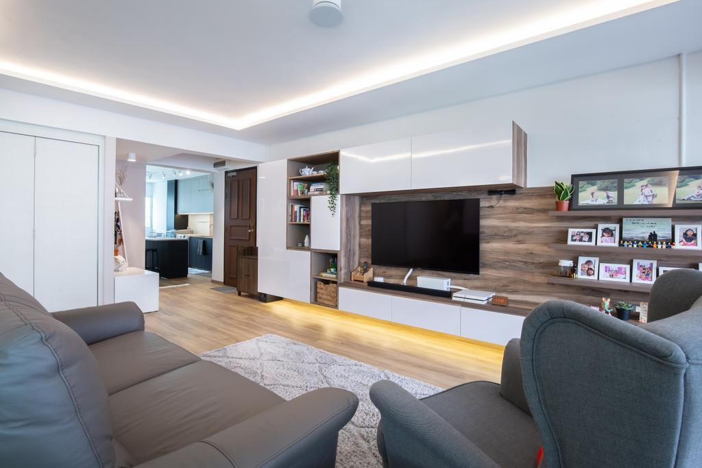 Contemporary, HDB, Living Room, Hougang Ave 10, Interior Designer, New Chapter Design.com
