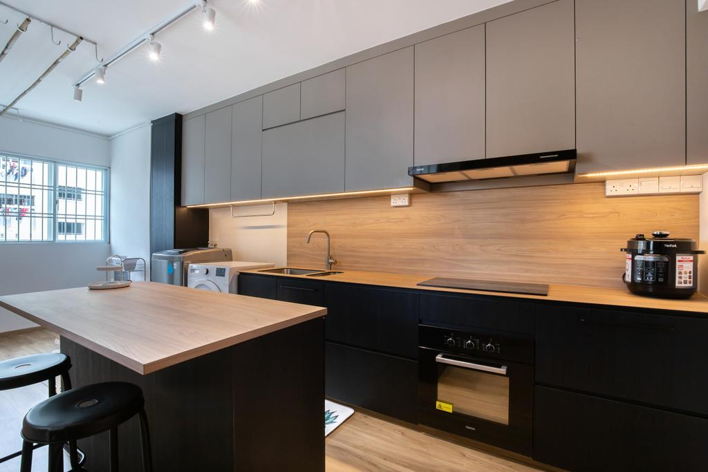 Contemporary, HDB, Kitchen, Hougang Ave 10, Interior Designer, New Chapter Design.com