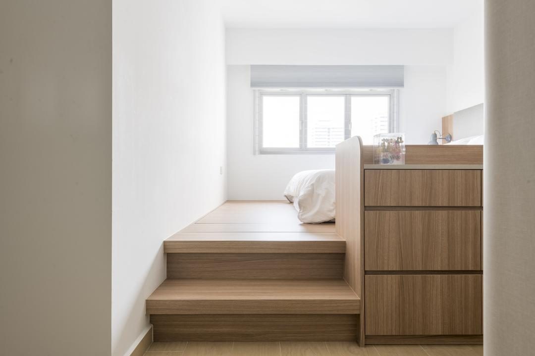 St George Towers, 13th Design Studio, Scandinavian, Bedroom, HDB, Platform Bed