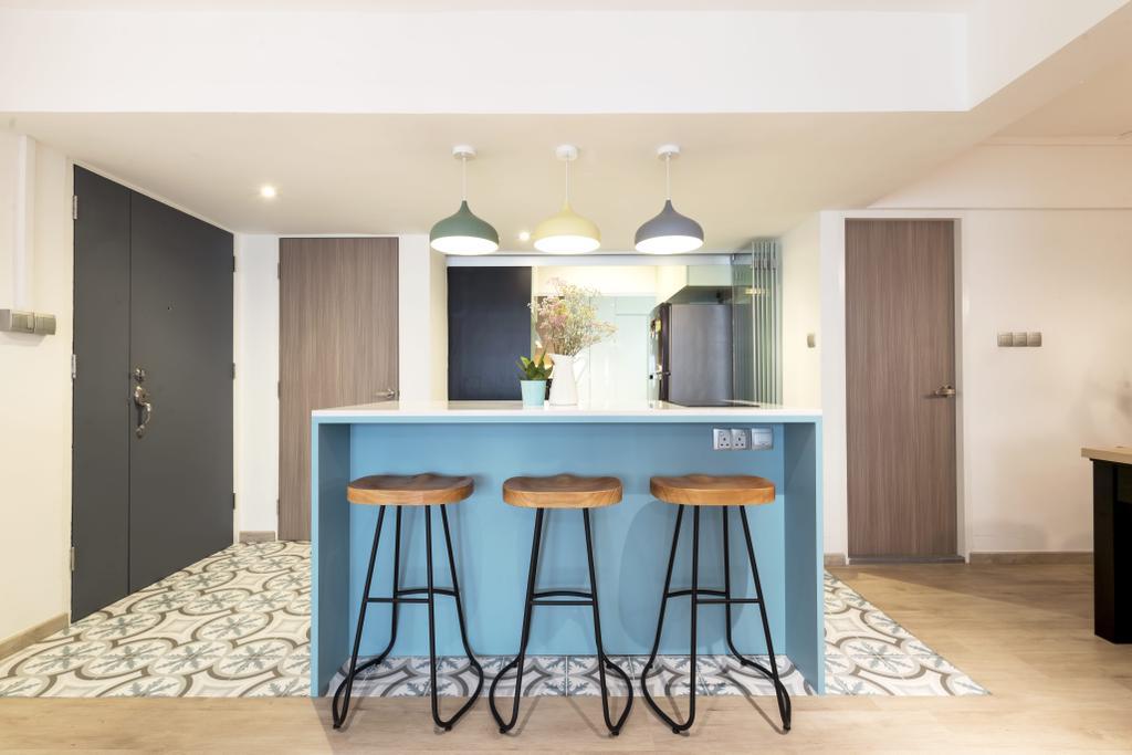 Contemporary, HDB, Kitchen, Commonwealth Avenue 3, Interior Designer, 13th Design Studio