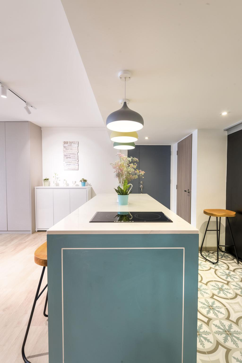 Contemporary, HDB, Kitchen, Commonwealth Avenue 3, Interior Designer, 13th Design Studio