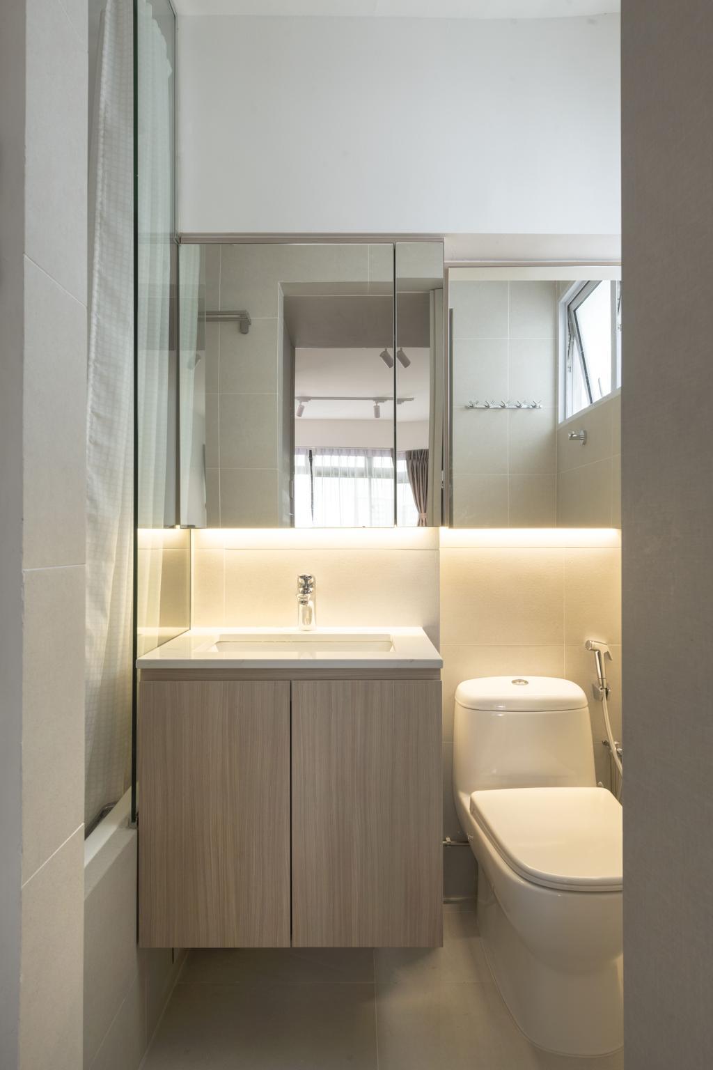 Contemporary, HDB, Bathroom, Commonwealth Avenue 3, Interior Designer, 13th Design Studio