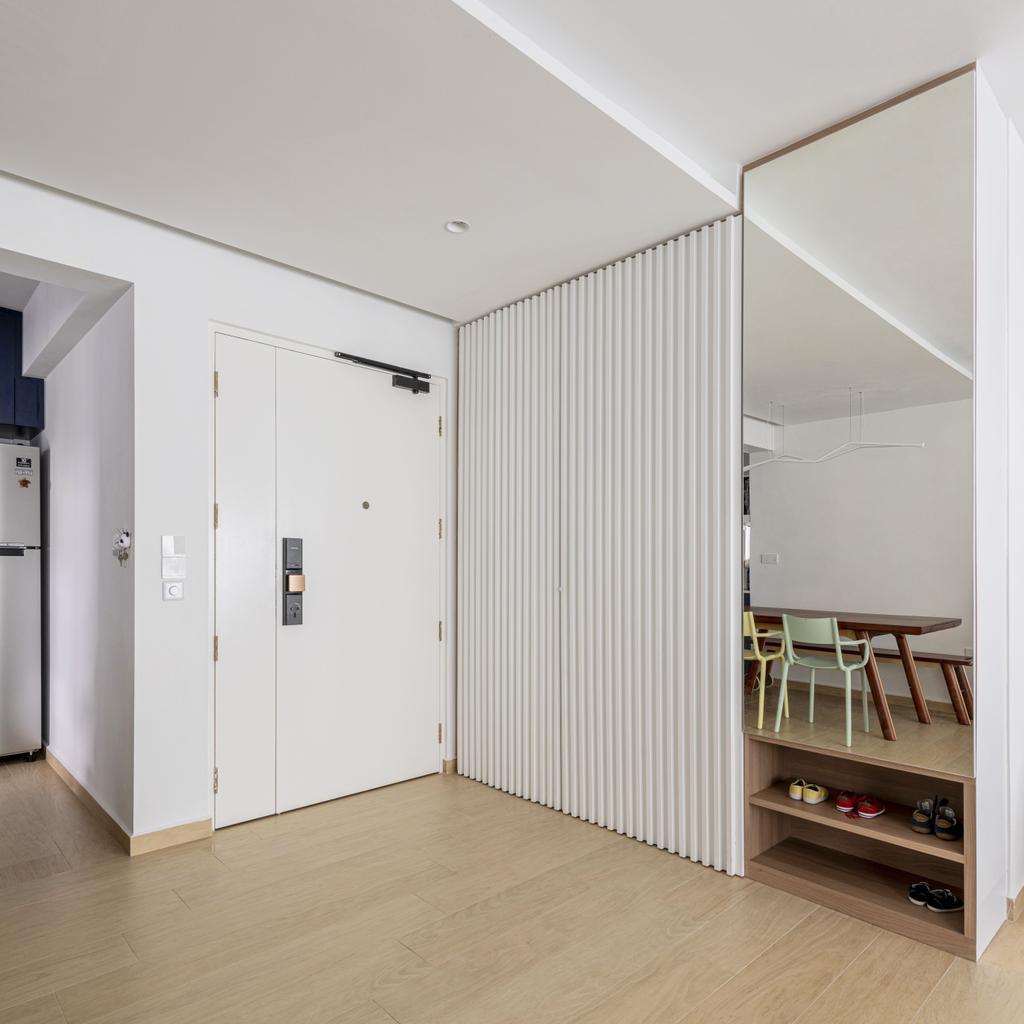 Scandinavian, HDB, Living Room, St George Towers, Interior Designer, 13th Design Studio, Shoe Cabinet, Shoe Storage, Entrance, Foyer