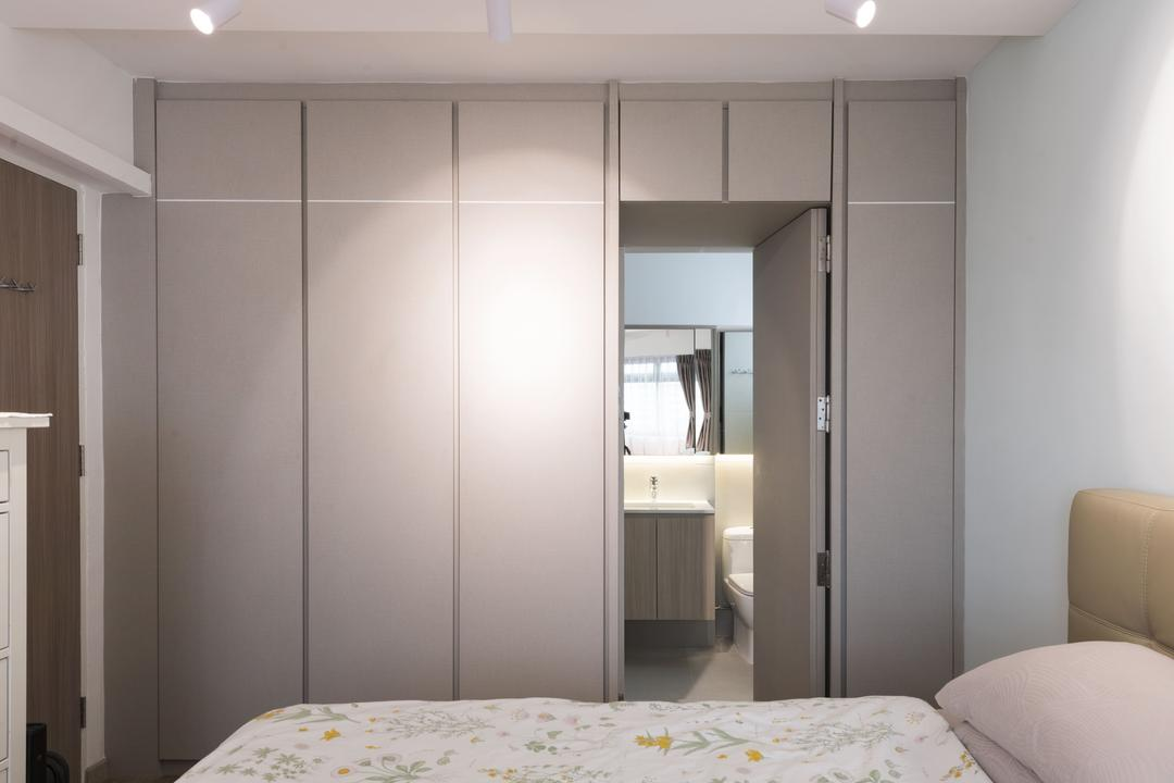 Commonwealth Avenue 3, 13th Design Studio, Contemporary, Bedroom, HDB, Hidden Door, Concealed Door