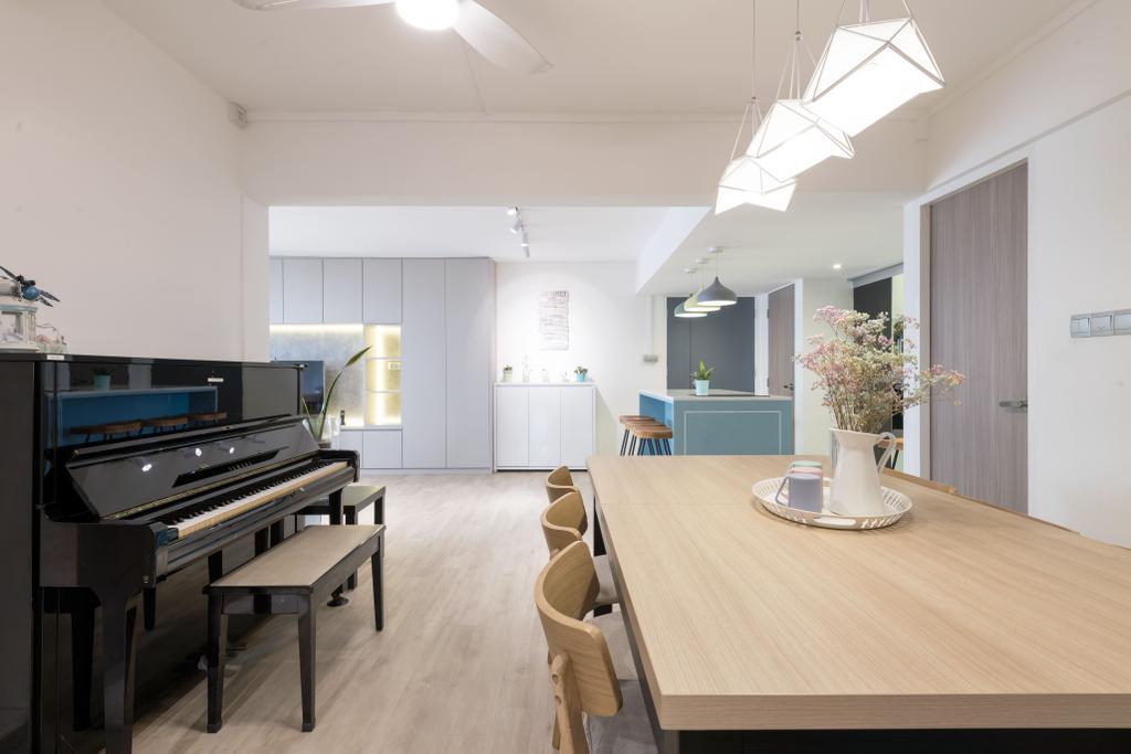 Contemporary, HDB, Dining Room, Commonwealth Avenue 3, Interior Designer, 13th Design Studio