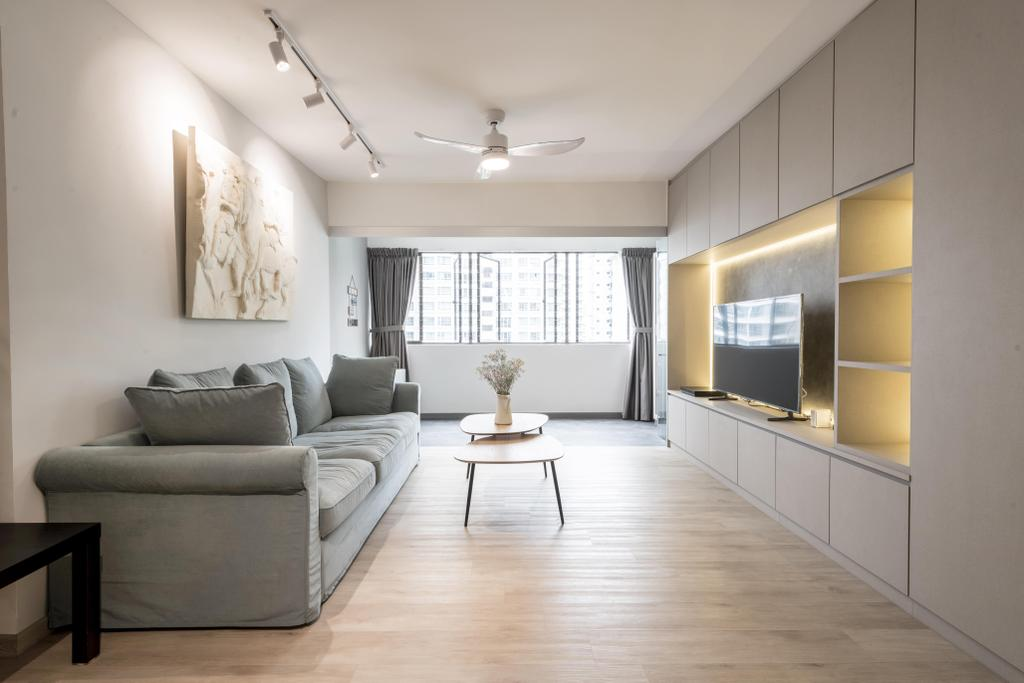 Contemporary, HDB, Living Room, Commonwealth Avenue 3, Interior Designer, 13th Design Studio