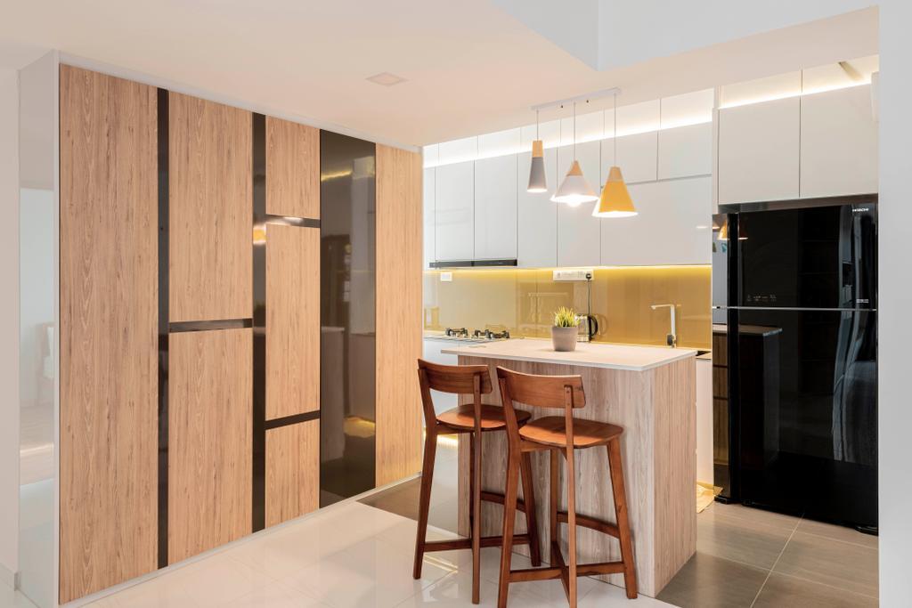 Contemporary, Condo, Kitchen, The Sunny Spring, Interior Designer, 13th Design Studio