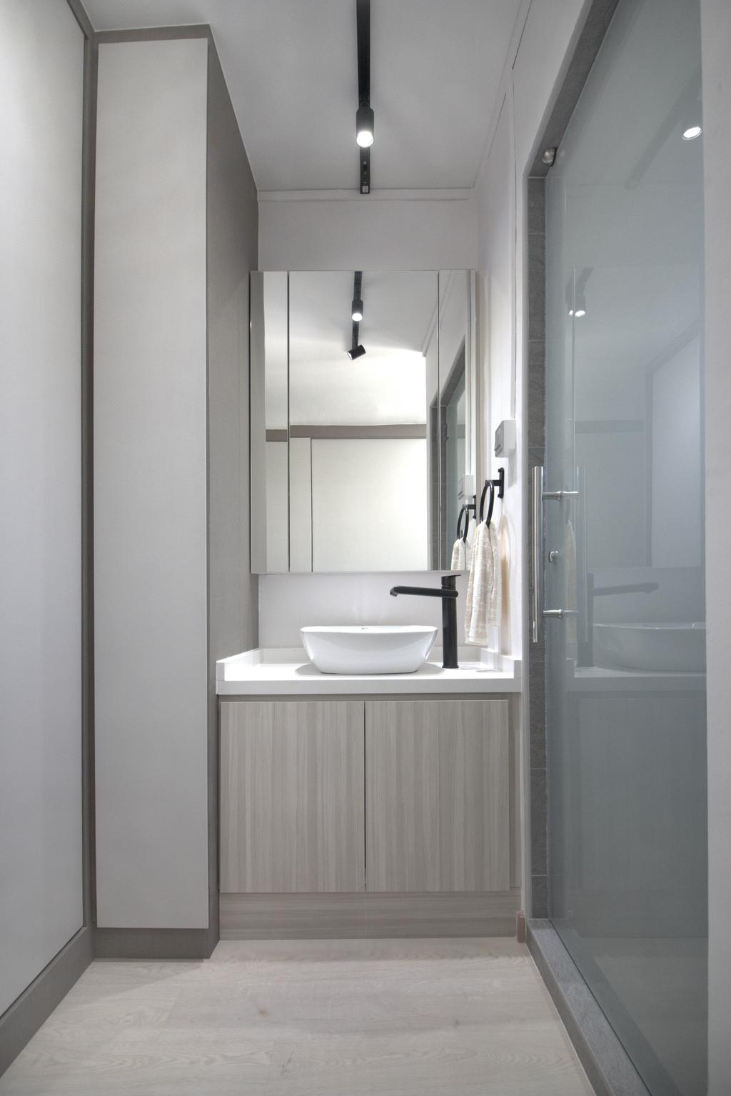 Scandinavian, HDB, Bathroom, Jurong West Street 81, Interior Designer, 13th Design Studio, Modern